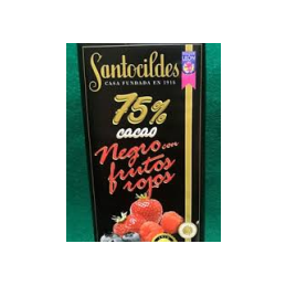Chocolate 75% negro con Frutos Rojos